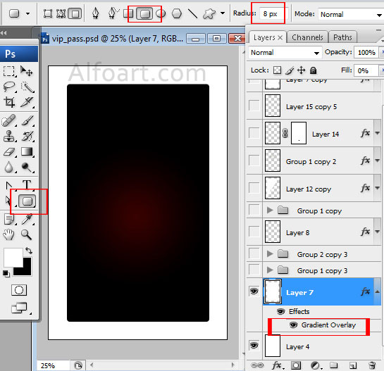Tutorial on how to make Elegant and glossy black vip pass with – Free Vip Pass Template